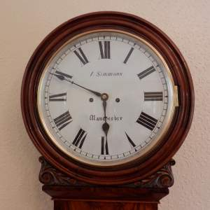English Double Fusee Wall Clock by J Simmons Manchester