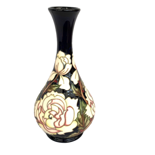 Moorcroft Vase in the Trial Cloud Dancer Pattern image-4