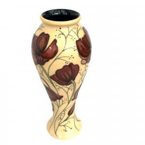 Moorcroft Vase  in the Chocolate Cosmos Pattern