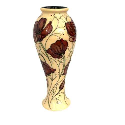 Moorcroft Vase  in the Chocolate Cosmos Pattern image-2