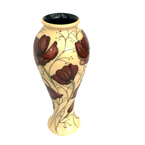 Moorcroft Vase  in the Chocolate Cosmos Pattern image-5