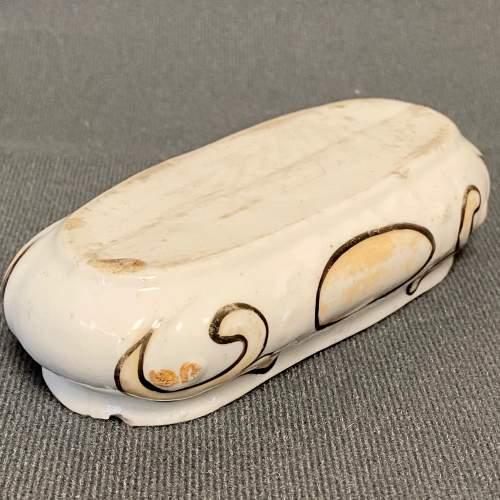 German Thuringian Pottery Fox Trinket Box image-5