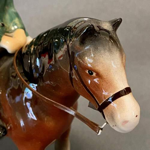 Unusual Bretby Model of a Pony and Rider image-3