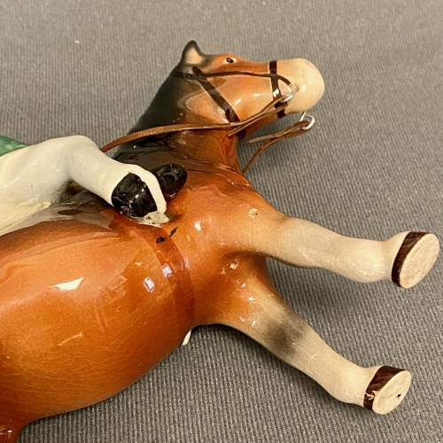 Unusual Bretby Model of a Pony and Rider image-4