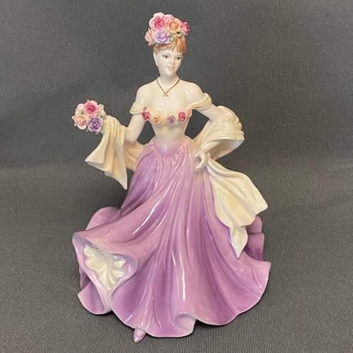 20th Century Coalport Sweetest Rose Figure image-1