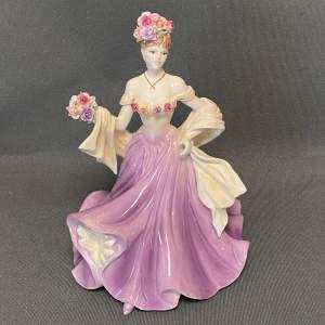 20th Century Coalport Sweetest Rose Figure