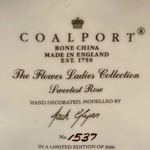 20th Century Coalport Sweetest Rose Figure image-6