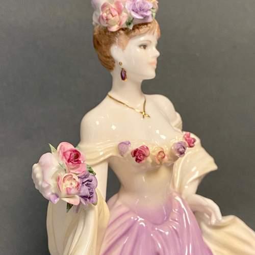 20th Century Coalport Sweetest Rose Figure image-4
