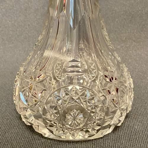 Edwardian Cut Glass Silver Mounted Scent Bottle image-2