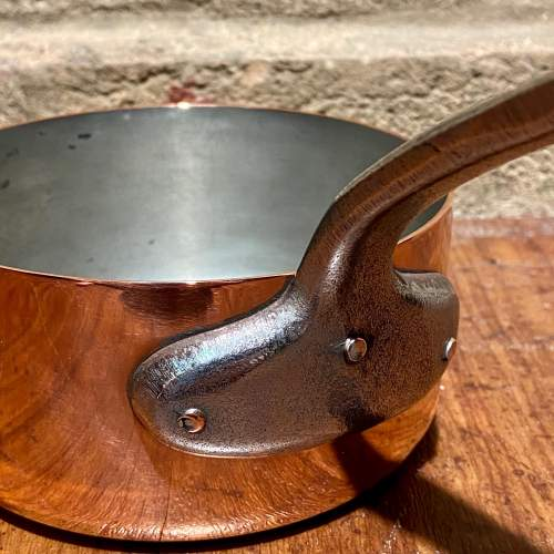 Vintage Set of Five Heavy French Copper Pans image-6