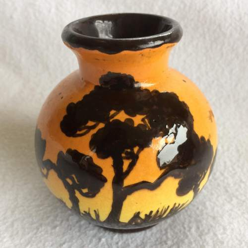Small Juan Massier Art Nouveau Hand Painted Vase image-1