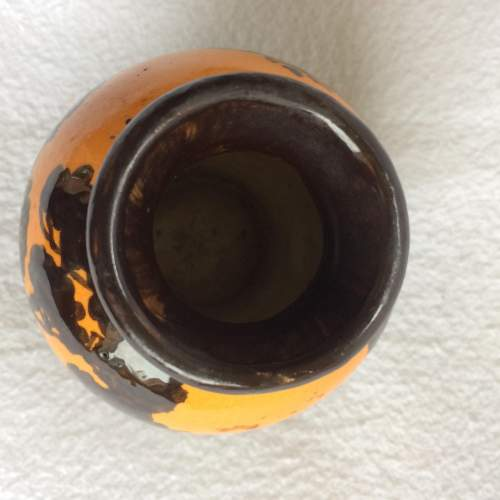 Small Juan Massier Art Nouveau Hand Painted Vase image-4