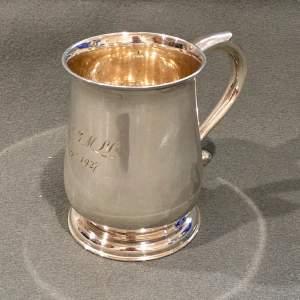 Early 20th Century Silver Christening Tankard