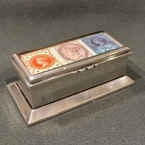 Victorian Silver Triple Stamp Box