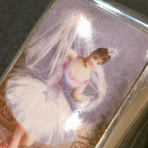 Victorian Silver and Enamel Ballerina Vesta Case image-2