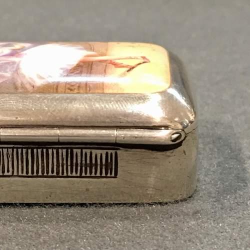 Victorian Silver and Enamel Ballerina Vesta Case image-6
