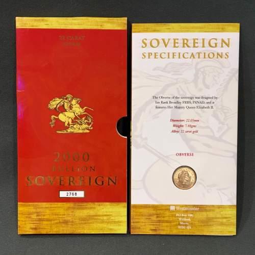 Queen Elizabeth II 2000 Gold Full Sovereign image-1