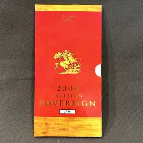 Queen Elizabeth II 2000 Gold Full Sovereign image-3
