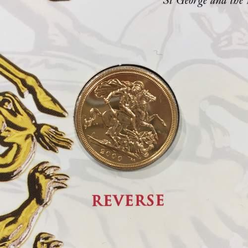 Queen Elizabeth II 2000 Gold Full Sovereign image-4