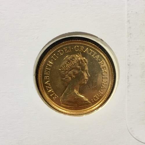 Queen Elizabeth II 1982 Gold Full Sovereign image-3