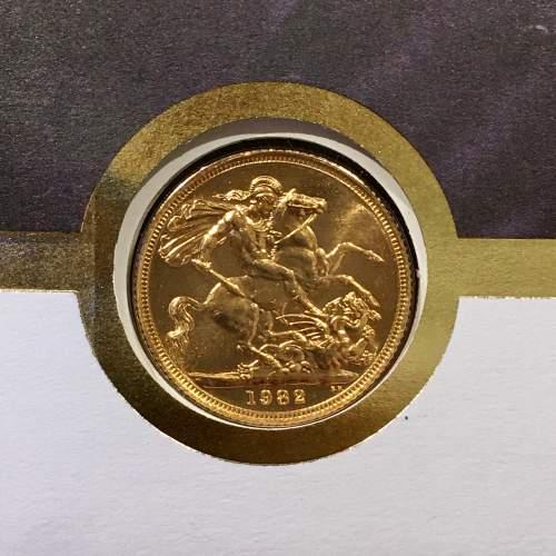 Queen Elizabeth II 1982 Gold Full Sovereign image-4