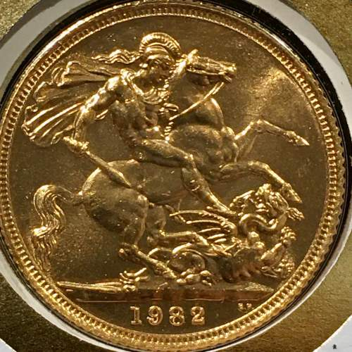 Queen Elizabeth II 1982 Gold Full Sovereign image-5