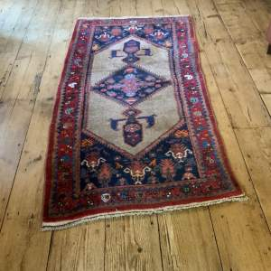 Old Hand Knotted Kurdish Village Rug Vordoveh Wonderful Shape