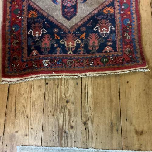 Old Hand Knotted Kurdish Village Rug Vordoveh Wonderful Shape image-2