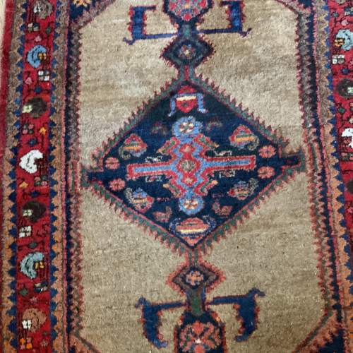 Old Hand Knotted Kurdish Village Rug Vordoveh Wonderful Shape image-3