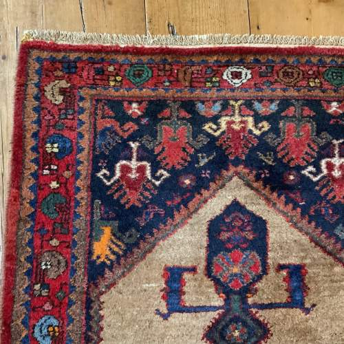 Old Hand Knotted Kurdish Village Rug Vordoveh Wonderful Shape image-4
