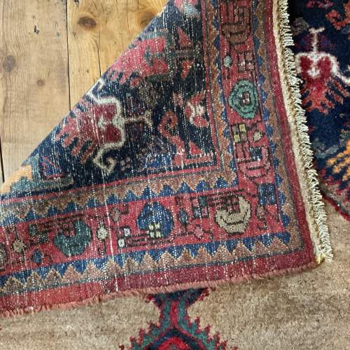 Old Hand Knotted Kurdish Village Rug Vordoveh Wonderful Shape image-5