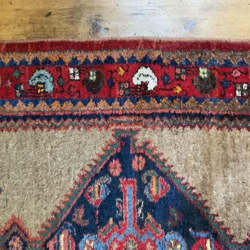 Old Hand Knotted Kurdish Village Rug Vordoveh Wonderful Shape image-6