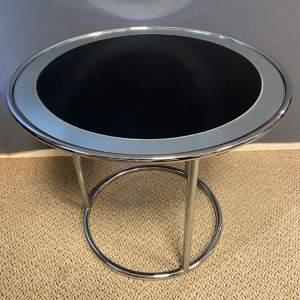 Art Deco Chrome Round Table
