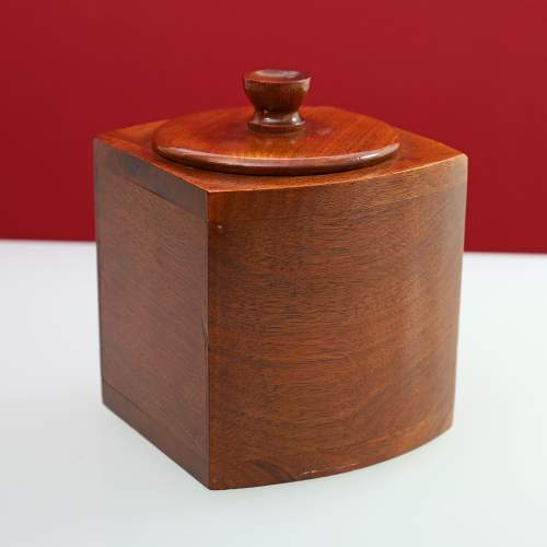 Art Deco Walnut Bow Fronted Tea Caddy image-1