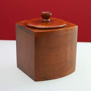 Art Deco Walnut Bow Fronted Tea Caddy