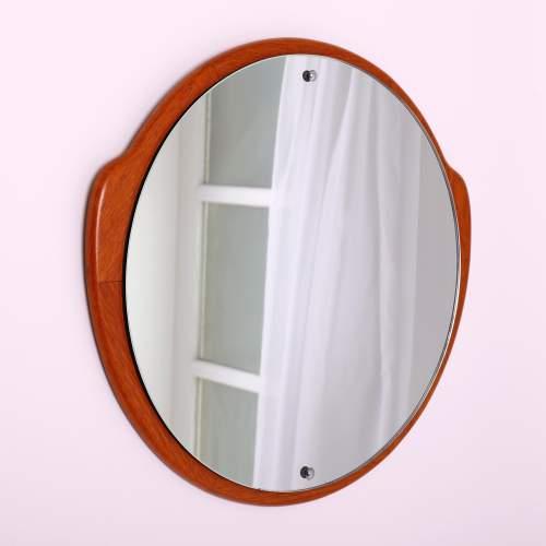 G-Plan 1960s Circular Teak Wall Mirror image-2