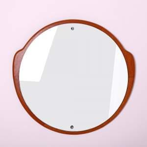 G-Plan 1960s Circular Teak Wall Mirror