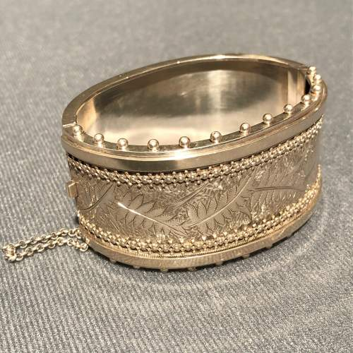 19th Century Sterling Silver Bangle image-1