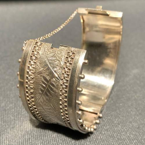 19th Century Sterling Silver Bangle image-2