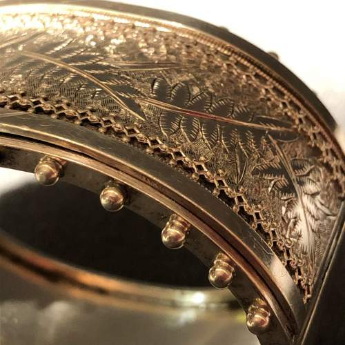 19th Century Sterling Silver Bangle image-5