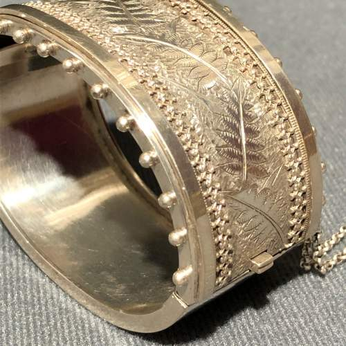 19th Century Sterling Silver Bangle image-4