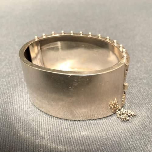 19th Century Sterling Silver Bangle image-6