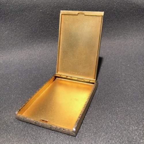20th Century Fine Sterling Silver and Enamel Cigarette Case image-2