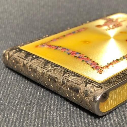 20th Century Fine Sterling Silver and Enamel Cigarette Case image-5
