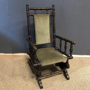 Victorian American Childs Rocking Chair