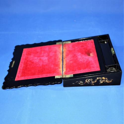 19th Century Black Lacquer Writing Box image-3