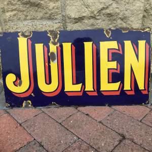 Vintage Enamel Sign - Julien