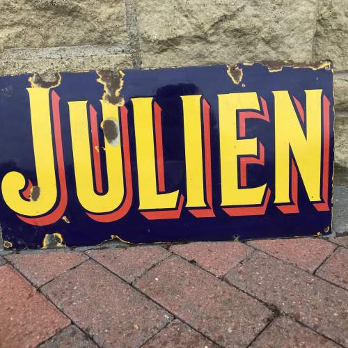 Vintage Enamel Sign - Julien image-4