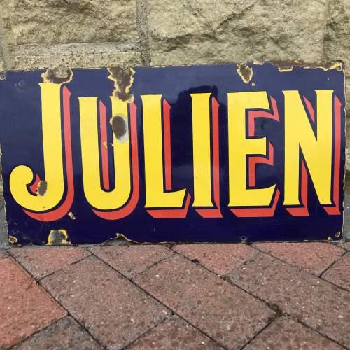 Vintage Enamel Sign - Julien image-5