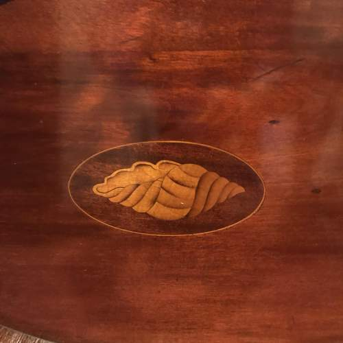 Edwardian Inlaid Mahogany Oval Tray image-3
